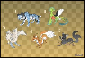[Closed] Adoptables: Mystical Creatures by MySweetQueen
