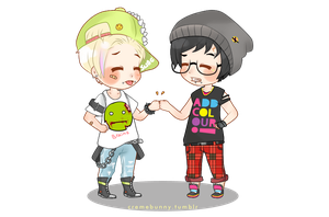 Chibi Drarry - Hipsters by Cremebunny