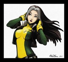 Rogue in manga style by HidaKuma