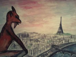 Gargoyles at the front of Paris by PeteDamian