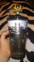 My New Transformers cup with Bumblebee Topper by OrochimaruXDD