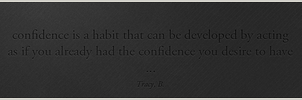 Quote on Wall THREE confidence by pedroL