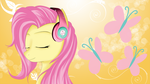 Fluttershy with headphones (yellow) by AvareQ