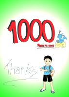 1k pageviews. Thanks. by Ronin-errante