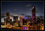 Brisbane By Night I by 2Stupid2Duck