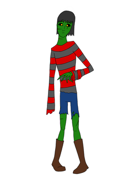 Tickle OC: Jules the Zombie by Arachnid95