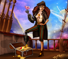 Disney Villainettes - John Silver by blastedgoose