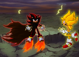 Shadow Vs Fleetway by grim-zitos