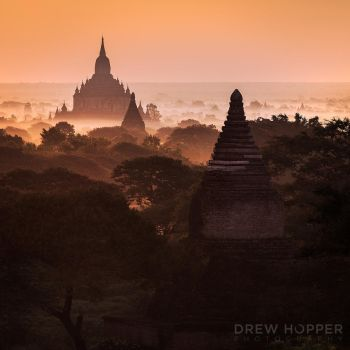Misty Plains of Bagan by DrewHopper