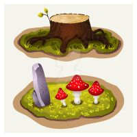 Environment objects for game design by AnaStrelchenko