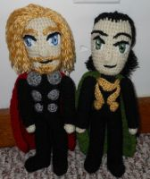 Asgardian Brothers by JenniferElluin