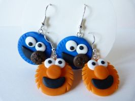 Cookie Monster and Elmo by amalie2