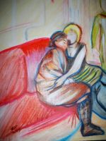 The Two Girlfriends, After Toulouse-Lautrec by animeninjaNIPPON