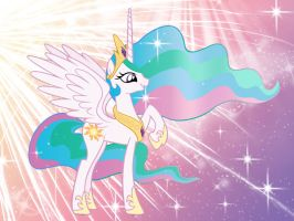 Princess Celestia Wallpaper by Brightshadow813