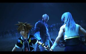 sora and riku in kh3ds by blueaqua77