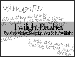 Twilight Brushes by missillusionworld
