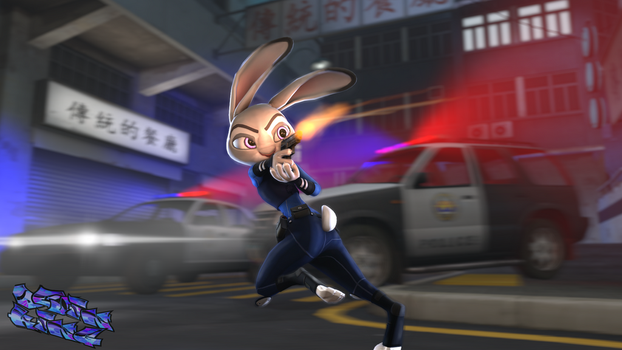 Action hero Judy! by Jiant101
