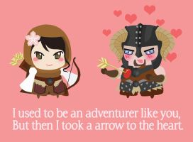 Skyrim Valentines Card Commission by Berri-Blossom