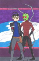 Zim And Dib In Space By Weirdness by Z-A-D-R
