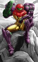 Samus Aran Colored by JaffarHasad