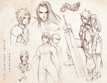 FFVII Sketches by keishajl