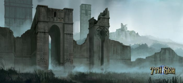 Ruins of the city of giants by DHTenshi