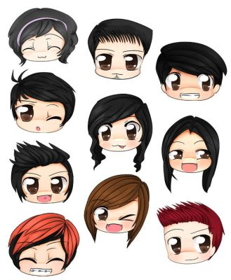 Chibi Faces by Dicex012