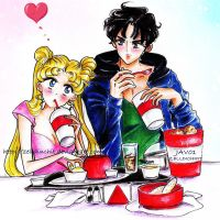usagi and mamoru -sweet love by zelldinchit