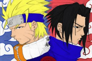 naruto and sasuke by darckArt78