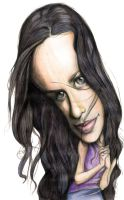 Alanis Morissette caricature by supersalzman