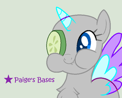 Cucumber Monocle MLP base by Paige-the-unicorn