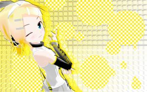 Kagamine Rin Wallpaper by AshandFire