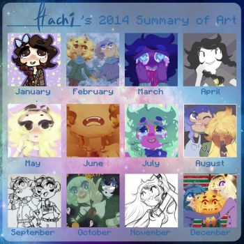 2014 Summary of Art by Hachi-ban