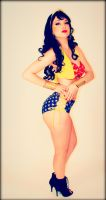 Wonder Woman Vintage Pin-Up Version by CosplayButterfly