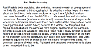 Red Flash's personality by firenamedBob