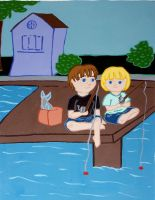 Page 6. They boys go fishing by hiddentalent1
