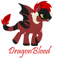 DragonBlood ~New OC~ by XBluexMoonX