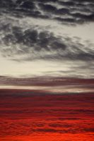 Red Sea and Cobbled Sky by CharmyRaven