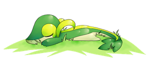 Sleeping Snivy by Darugia