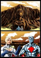 Power Girl and Captain Atom - Society by adamantis