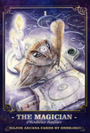 The Owl Tarot - I THE MAGICIAN (Phodilus badius) by Onislogo