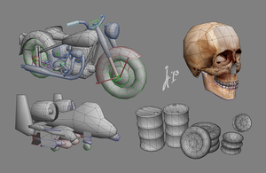 Lowpoly WIPs by ivancg