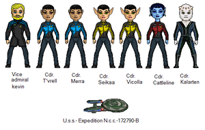crew of the Uss Expadition by digikevin10