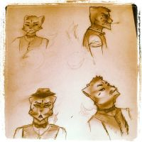 Four angle character concept by zjamacy