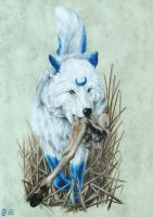 Blue and White Hunter by Ridira