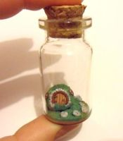 hobbit house in a jar by Stefimoose
