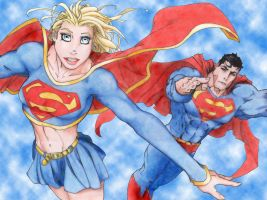 Supergirl and Superman - Final by StingRoll