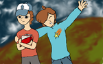 Dipper and Able Pines by marssetta