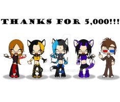 Thanks for 5k by Dusk-Wolf