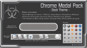 Chrome medal Pack-Dock theme by Jems00sex